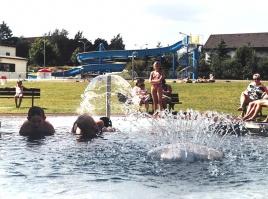 Vodní ježek a fontána